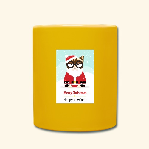 SantaCat - Full Colour Mug