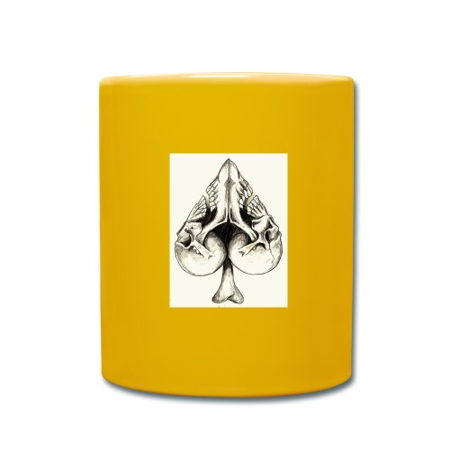 Corazon de calavera - Taza de un color