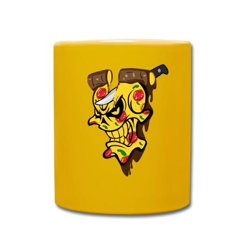 Pizza Schädel mit Messer - Tasse einfarbig