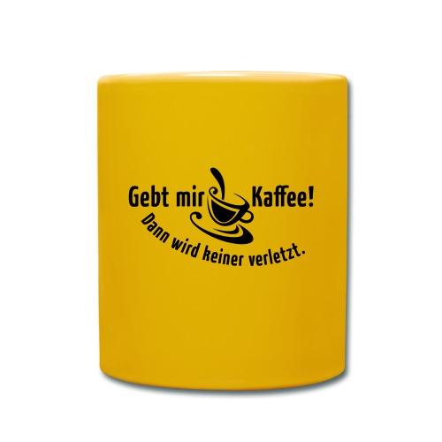 Kaffee Koffein Montag früher Vogel Morgen Latte - Full Colour Mug