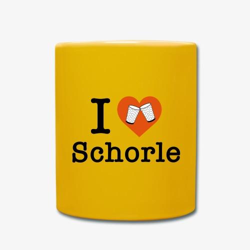 I love Schorle – Dubbeglas - Tasse einfarbig