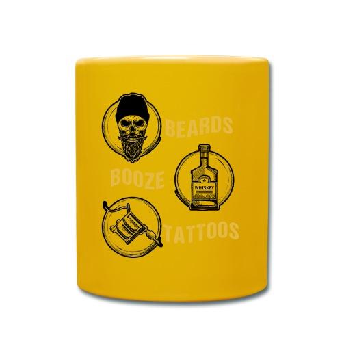 Beards Booze Tattoos Fathers Day Gift - Tasse einfarbig