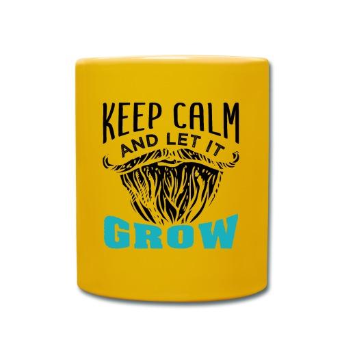 Beard Keep Calm And Let It Grow - Tasse einfarbig