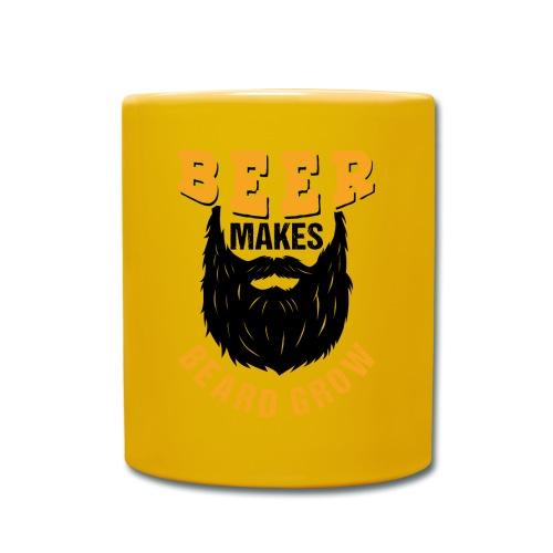 Beer Makes Beard Grow Funny Gift - Tasse einfarbig