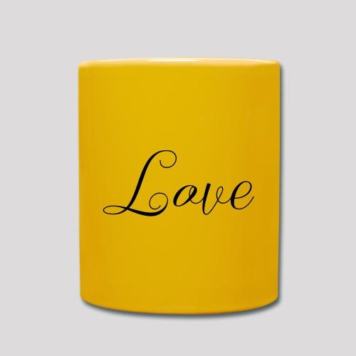 Love - Schiftzug - Tasse einfarbig