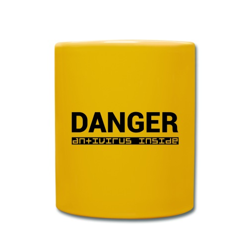 DANGER_antivirus_inside - Full Colour Mug