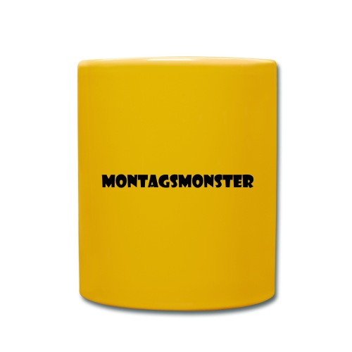 Montagsmonster - Tasse einfarbig