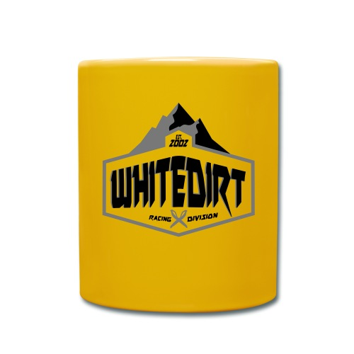 White Dirt Mountain Eco White / Orange - Full Colour Mug