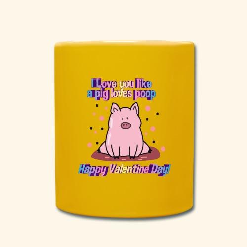 I pig tobe you my valentine - Taza de un color