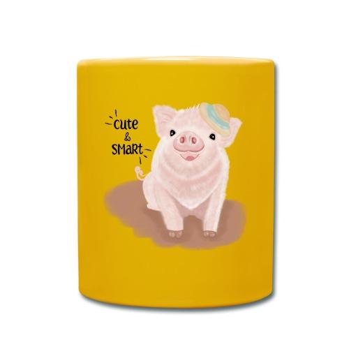 Cute & Smart Pig - Full Colour Mug