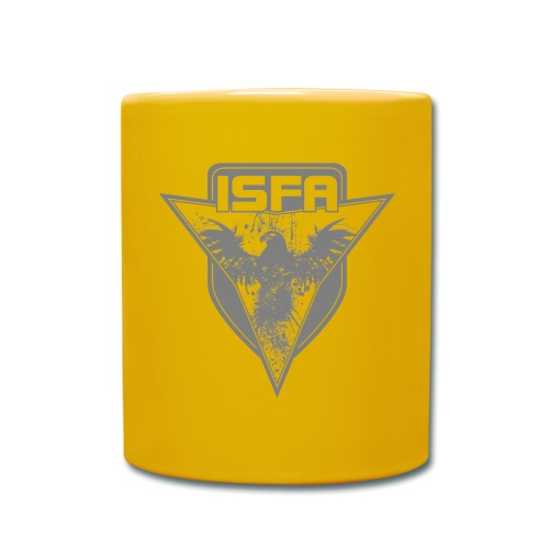 isfa logo 1c grau - Tasse einfarbig