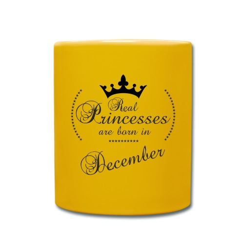 Real Princesses black December - Tasse einfarbig
