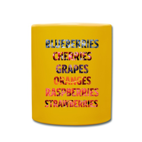 Fruechte Beeren Worte - Tasse einfarbig