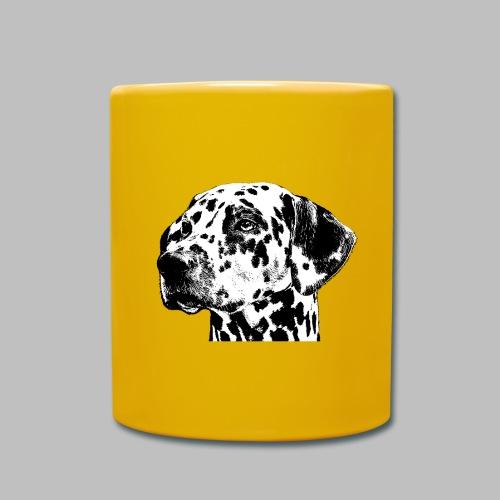 Dalmatiner Kopf Hund - Tasse einfarbig