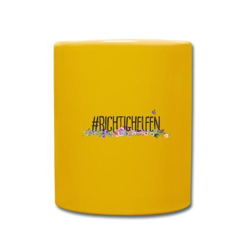 Richtig Helfen - Tasse einfarbig