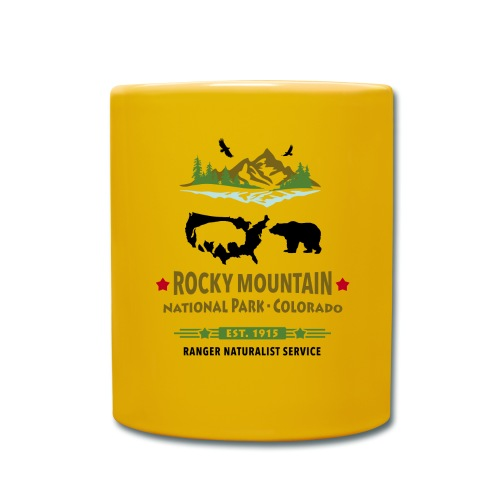 Rocky Mountain Nationalpark Berg Bison Grizzly Bär - Full Colour Mug