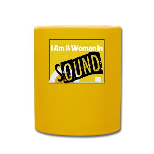 I am a woman in sound - yellow - Full Colour Mug