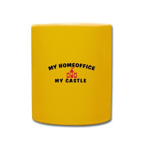 MY HOMEOFFICE MY CASTLE - Tasse einfarbig