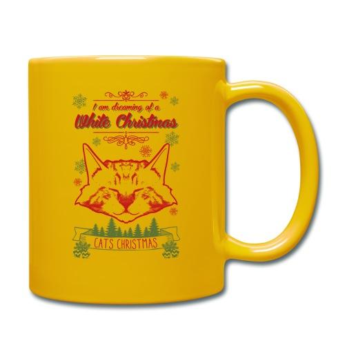 Weihnachtskatze - Tasse einfarbig