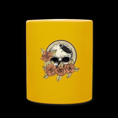 Rose et tête de mort - Mug uni