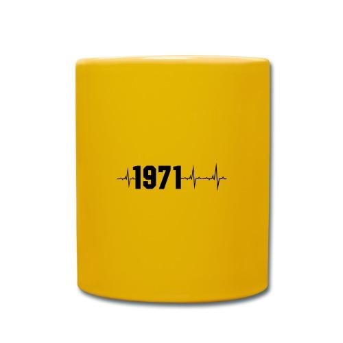 1971 Herzschlag - Tasse einfarbig