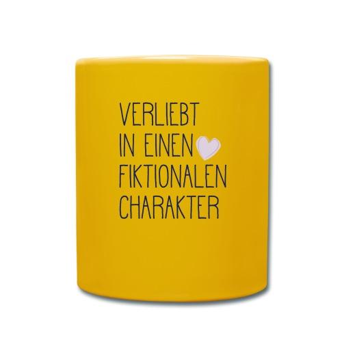 Verliebt in einen fiktionalen Charakter - Tasse einfarbig