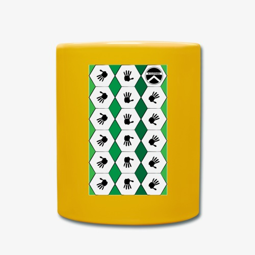  K·CLOTHES  HEXAGON ESSENCE GREENS & WHITE - Taza de un color