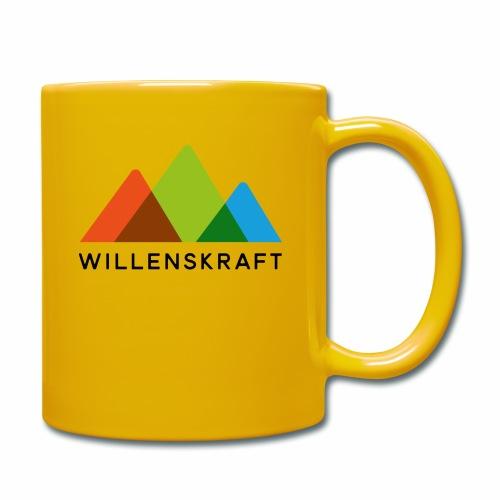 Willenskraft_Berge - Tasse einfarbig