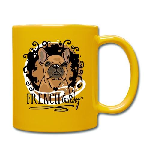 French Bulldog bunt - Tasse einfarbig