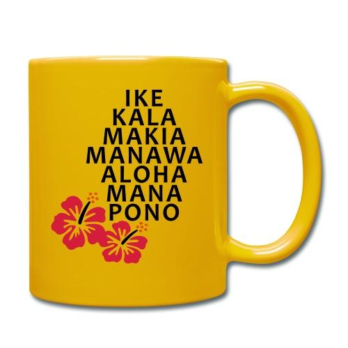 Die 7 Huna Prinzipien / Hibiscus Blüten - Tasse einfarbig