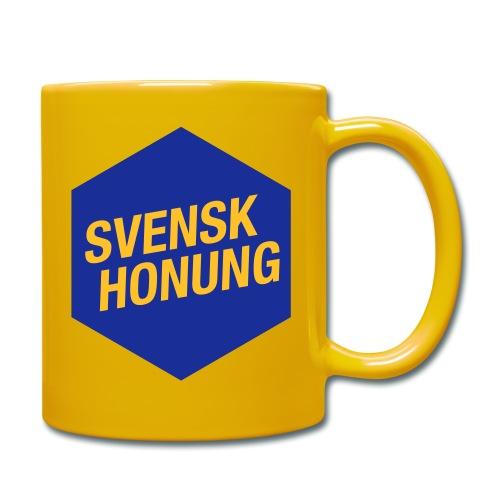 Svensk honung Hexagon Blå/Gul - Enfärgad mugg