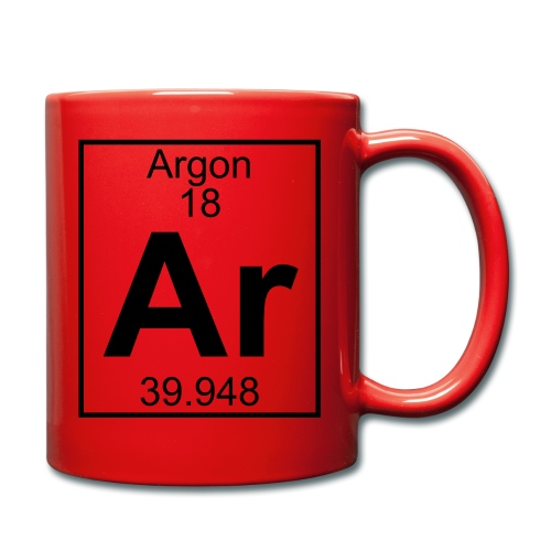 Argon (Ar) (element 18) - Full Colour Mug