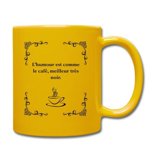L'humour est comme le café, citation - Mug uni