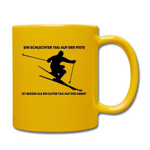 Tasse Ski Fahrer Spruch - Tasse einfarbig