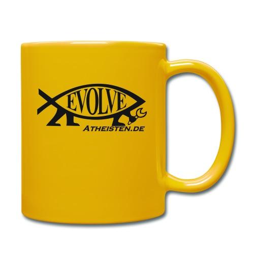 Atheisten Darwin Fish - Tasse einfarbig