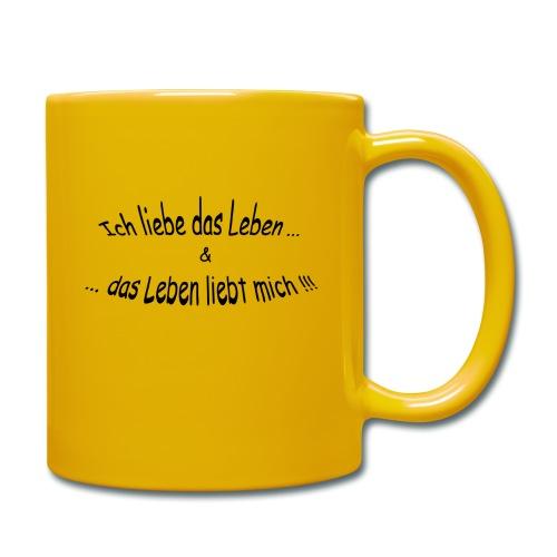 Ich-liebe-das-Leben - Tasse einfarbig