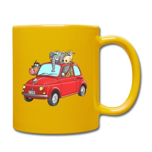 Giraffe - Elefant - Bulle im Auto Kinder - Tasse einfarbig