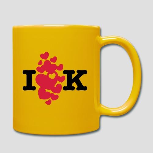 I love K very much - Tasse einfarbig