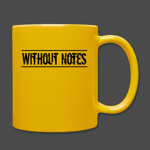 Without Notes Schriftzug Nummer 1 - Tasse einfarbig