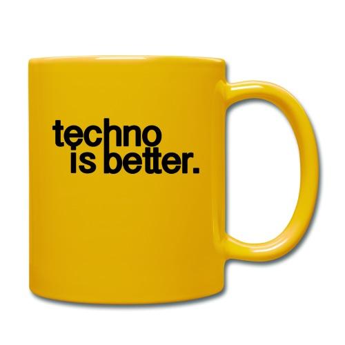 techno is better logo - Kubek jednokolorowy
