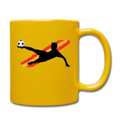 futbol españa - seleccion - jugador de futbol - Taza de un color