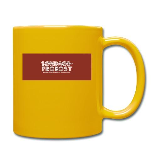 Kaffekopp - Ensfarget kopp