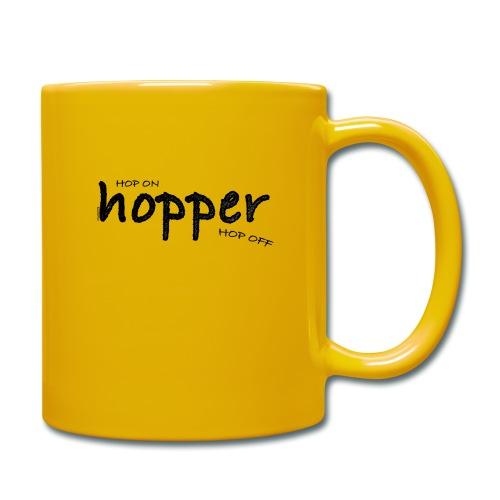 MuchoHop Hop On/Off (black) - Taza de un color