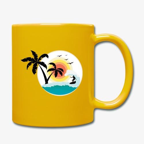 Surfing in paradise - Tasse einfarbig