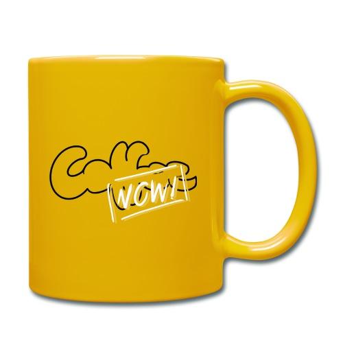 Coffee now - Tasse einfarbig