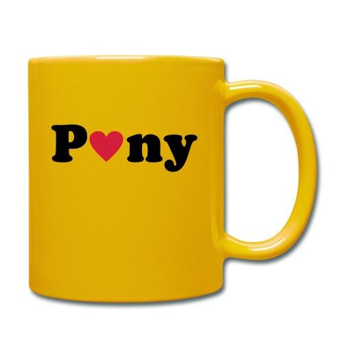 Pony - Tasse einfarbig