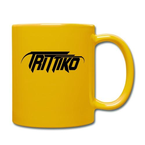 Trittiko Logo Schwarz - Tasse einfarbig