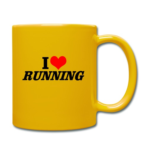 I love running - Tasse einfarbig