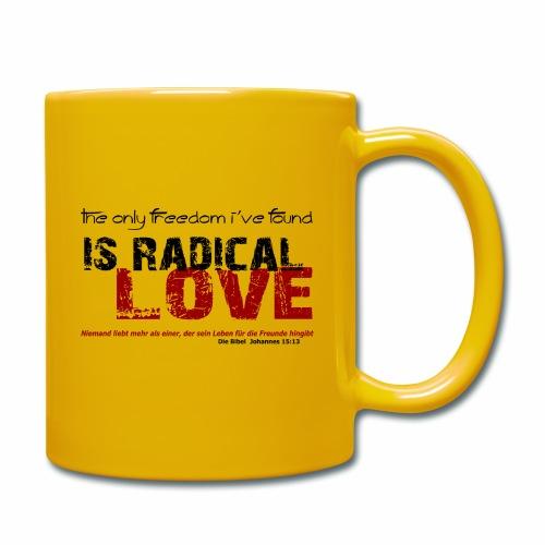 Radikale Liebe black - Tasse einfarbig