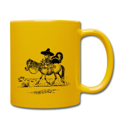 Thelwell 'Cowboy with a skunk' - Full Colour Mug